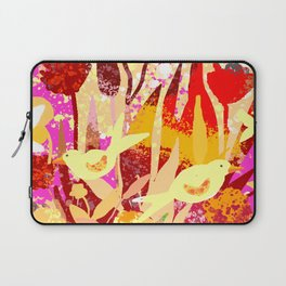 Birds In Garden Laptop Sleeve