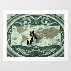 The Act of Globalization  Art Print
