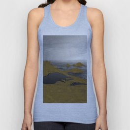 Looking West from SF (black & white) Unisex Tank Top
