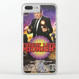 Geng Threat Level Midnight Poster Clear iPhone Case