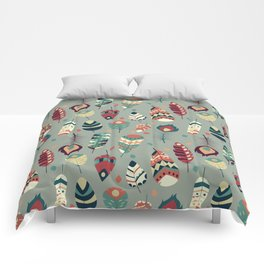Tribal feather pattern 008 Comforters