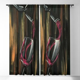 Fine Wine Blackout Curtain