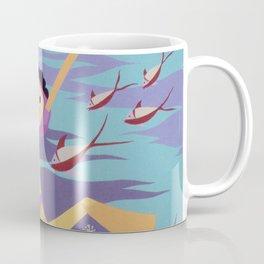 Snorkeling Vintage Poster Coffee Mug