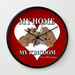 My Home, My Kingdom - Red Wall Clock