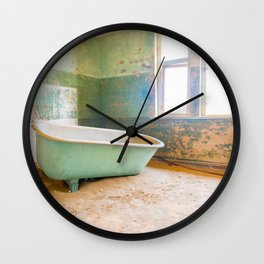 Antique Bathtub in Desert Americana Decor Wall Clock