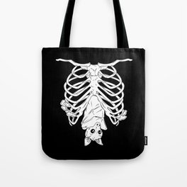 Cute Bat in Ribcage Tote Bag