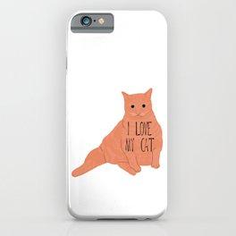 Fat Orange Cat iPhone Case