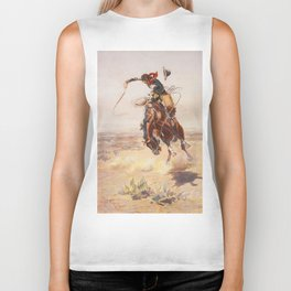 A Bad Hoss by Charles Marion Russell (c 1904) Biker Tank