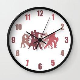 Latin Dancers Illustration Wall Clock