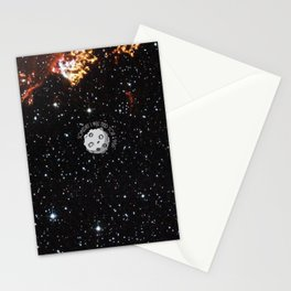 A Meteor in the space Stationery Cards