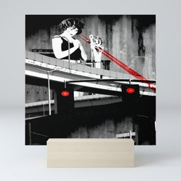 Stop the Freeway Overpass Scales Madness! Mini Art Print
