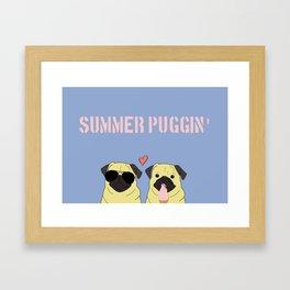 Summer Puggin Framed Art Print