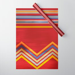 Stripes and Chevrons Ethic Pattern Wrapping Paper