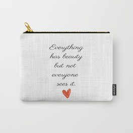 Art print Quote Carry-All Pouch