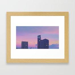 SEELE Over Hiroshima Framed Art Print