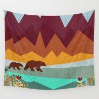 nirvana Wall Tapestries featuring Peak by Kakel