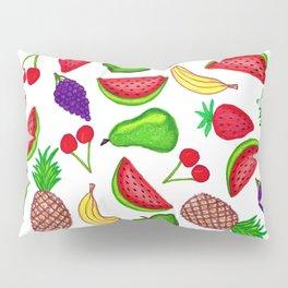 Tutti Fruity Hand Drawn Summer Mixed Fruit Pillow Sham