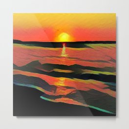 Hamptons' Sunset Metal Print