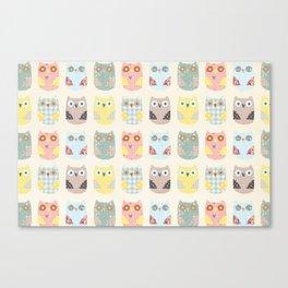 owls pattern Canvas Print