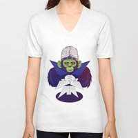 jojo V-neck T-shirts featuring Mojo Jojo by Mikhail Desales