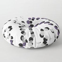 Purple Mardi Gras Beards Floor Pillow