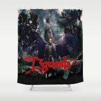 dracula Shower Curtains featuring Dracula by nurfiestore2u