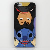 lilo and stitch iPhone & iPod Skins featuring Lilo & Stitch by Ashleigh Jane