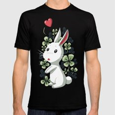 Clover Bunny MEDIUM Mens Fitted Tee Black