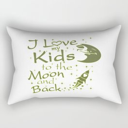 I Love My Kids to the Moon and Back Rectangular Pillow