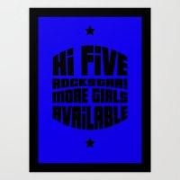 gta Art Prints featuring HI FIVE ROCKSTAR (GTA V) by Radu Negara