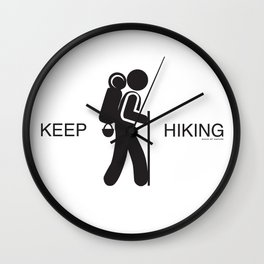 Keep Hiking with Sons Of Nature Wall Clock