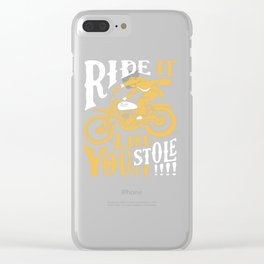 stole it Clear iPhone Case
