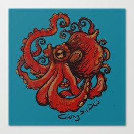Color baby tako octopus CathySuDes Canvas Print
