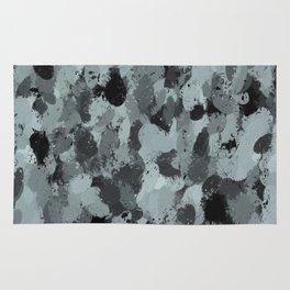 Black and Smokey Blue Pastels 3216 Rug