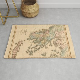 Vintage Map Print - 1823 map of Ancient Greece by Fielding Lucas, Jr Rug