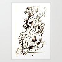 Sea of Images  Art Print