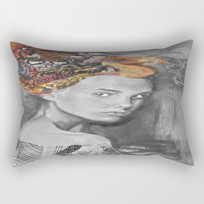 Dame black and white  Rectangular Pillow