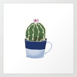 Cactus in a cup Art Print