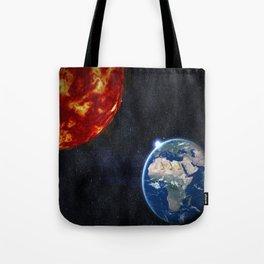 Sun, Ankh, Earth, Stars. Tote Bag
