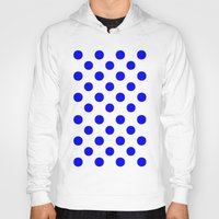 polka Hoodies featuring Polka Dots (Blue/White) by 10813 Apparel