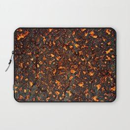 A texture of lava. A raster illustration. Laptop Sleeve