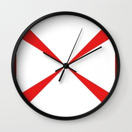 Simple Construction Red Wall Clock