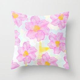Dazed Flower Throw Pillow