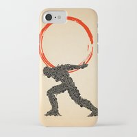 atlas iPhone & iPod Cases featuring Atlas by Dave Razor Compton Wolff