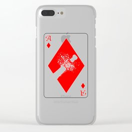 Ace of Diamonds Clear iPhone Case