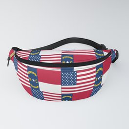 Mix of flag : Usa and north carolina Fanny Pack