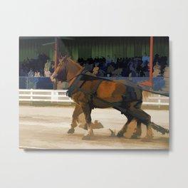 Pure Horsepower - Horse Pulling Event Metal Print