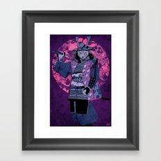 Samurai Kitty Framed Art Print