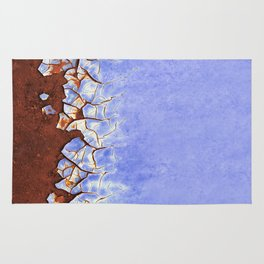 Rust and Blue Rug