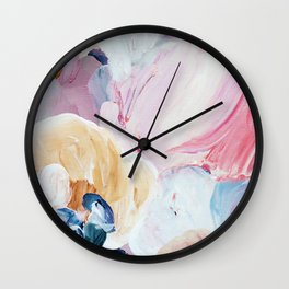 Returning II Abstract Painting  Wall Clock